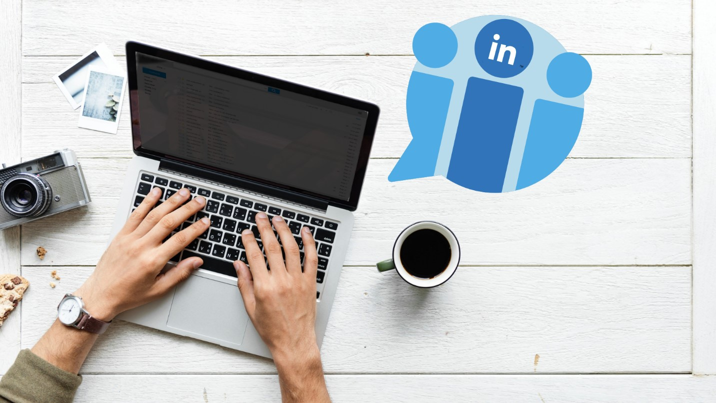 Owner learning how to advertise their business on LinkedIn